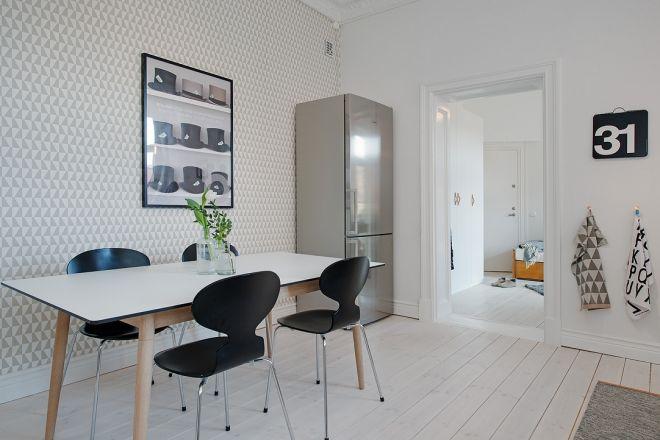 jídelna skandinávský styl design nábytek
