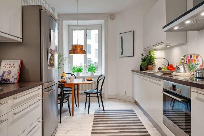 kuchyň skandinávský styl bydlení