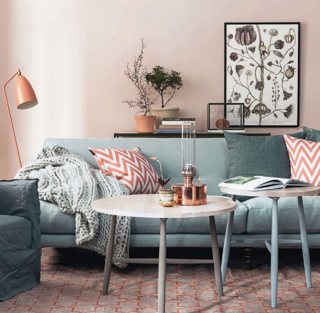 skandinávský bytový design obývák