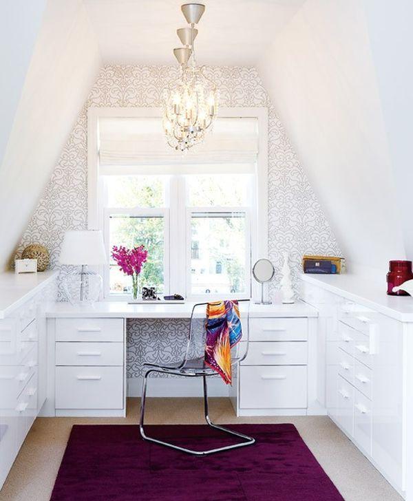 Otevřená domácí pracovna, umístění v samostatné místnosti
