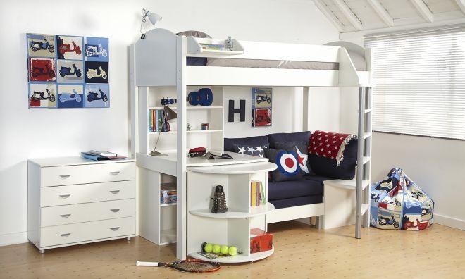 Double bunk bed with slide - Jednol 244 Kov 225 Vysok 225 Postel S Pohovkou A Stolom 169 Zdroj Www
