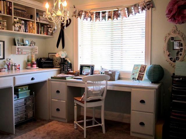 Domácí pracovna ve vintage stylu, umístění v pokoji