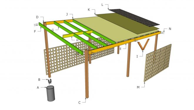 Free wood carport plans with material list 10