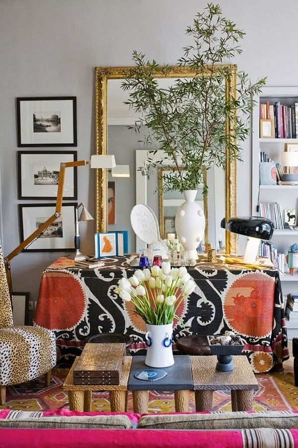 Modern Boho Apartment Bohemian Bedroom With Colorful