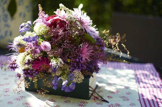 květiny na podzim záhony