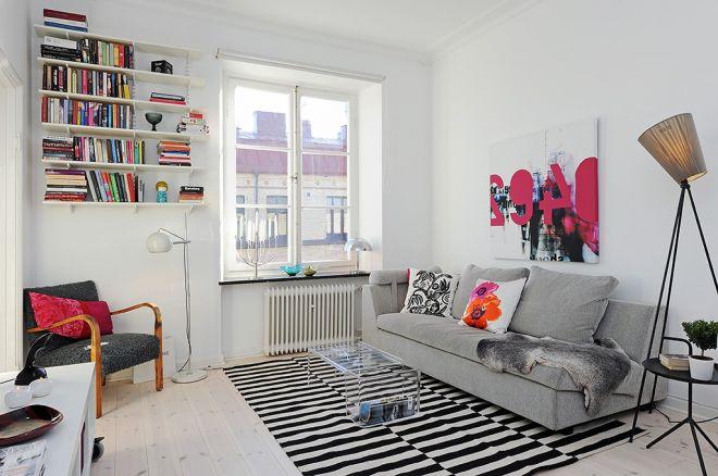 obývák skandinávský design