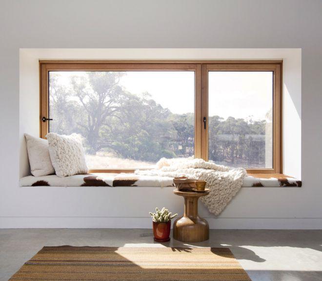 odpočinkové místo parapety okna