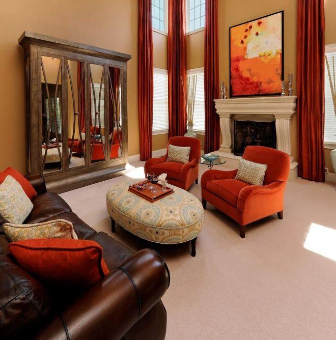 podzimní barvy designový pokoj