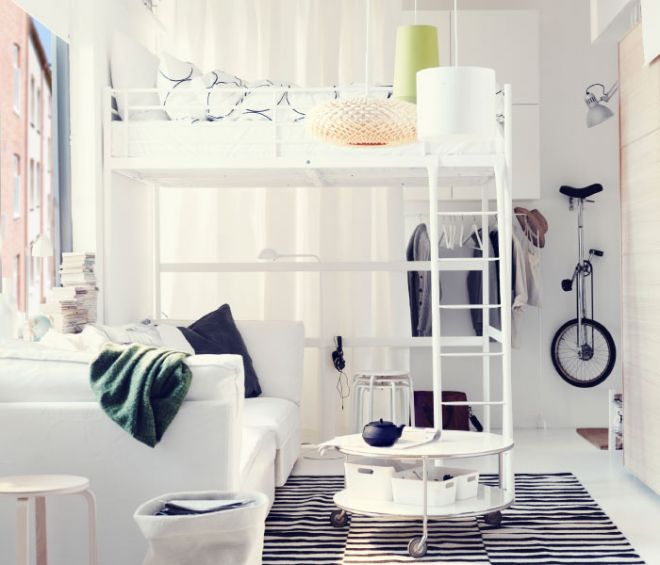 ložnice v černo bílém