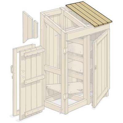 jak si vyrobit domek na nářadí