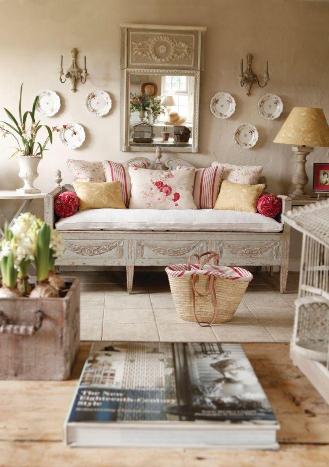 Obývacia izba podľa provensálskeho štýlu