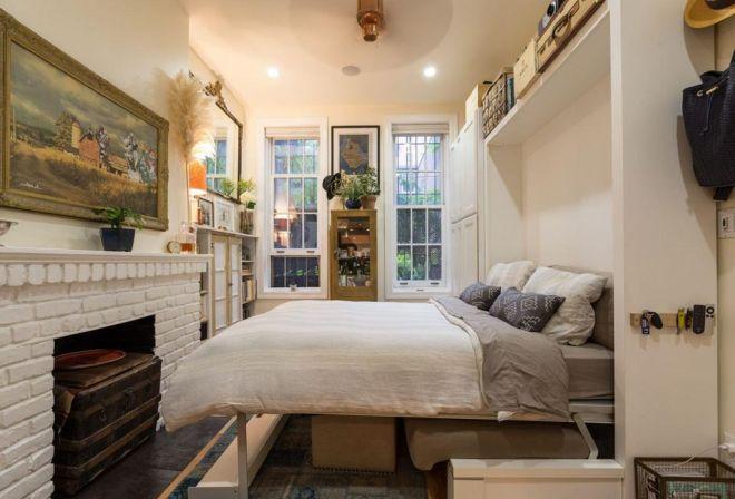 Malý byt se sklápěcí postelí