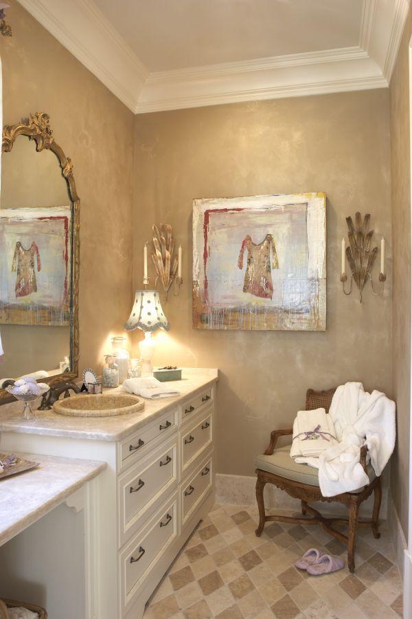 Designová koupelna v béžových barvách