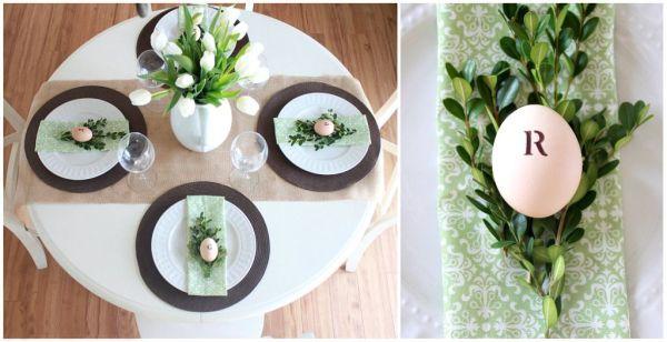 Svěží zelené dekorativní jarní prostírání