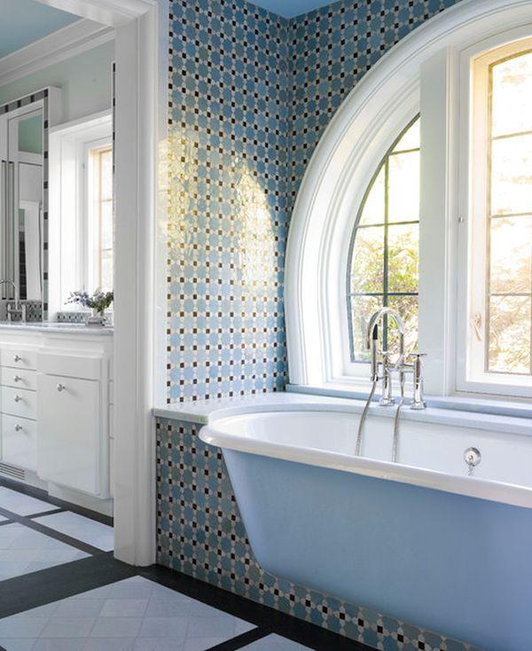 Designová koupelna s vanou místo odpočívadla