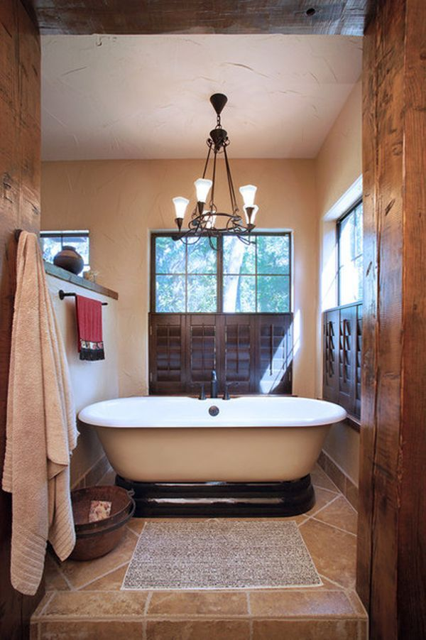 Designová koupelna ve španělském stylu