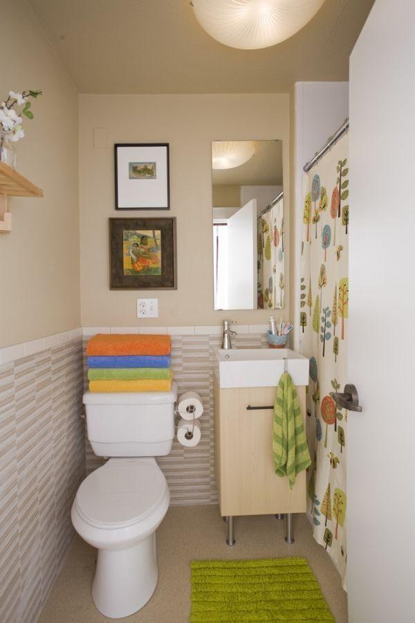 Malá designová koupelna s roztomilými prvky