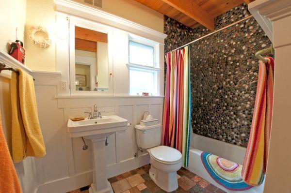 Stylové závěsy do moderní koupelny