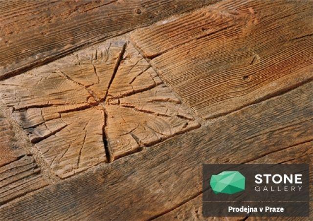 betónová imitácia dreva dlažba
