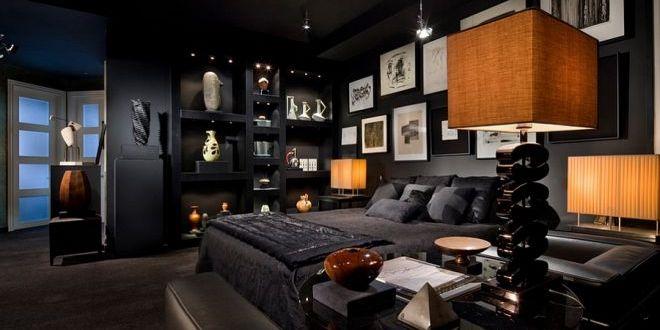 Sexy černá ložnice pro neodolatelně svůdný interiér