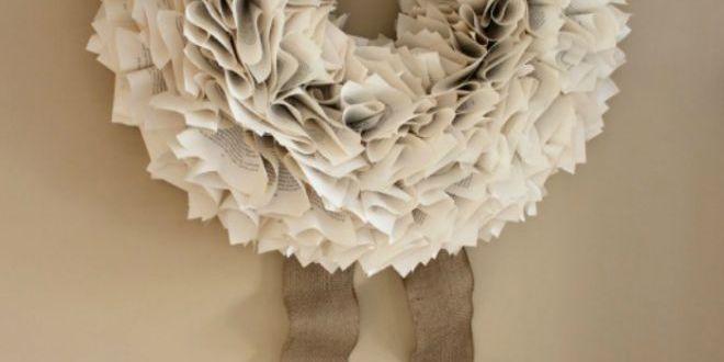 Zimní dekorace, která vítá hosty, aneb zimní věnec na dveře