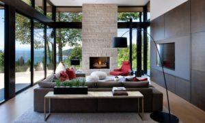 Interiéry s velkými okny